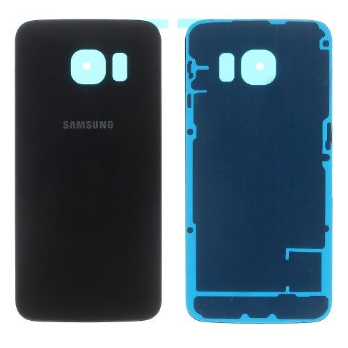 Accesorii Gsm Capac Baterie Spate Samsung Galaxy S6 edge G925 Cu Adeziv Sticker Negru
