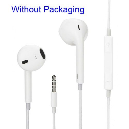Accesorii Gsm Casti Handsfree iPhone 3 4 4s 5 5s 5c 6 6 Plus iPod iPad Cu Microfon Albe