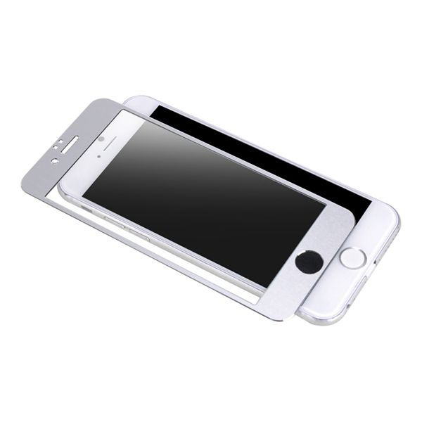 Accesorii Gsm Geam Protectie Display iPhone 6 6s Acoperire Completa Alb