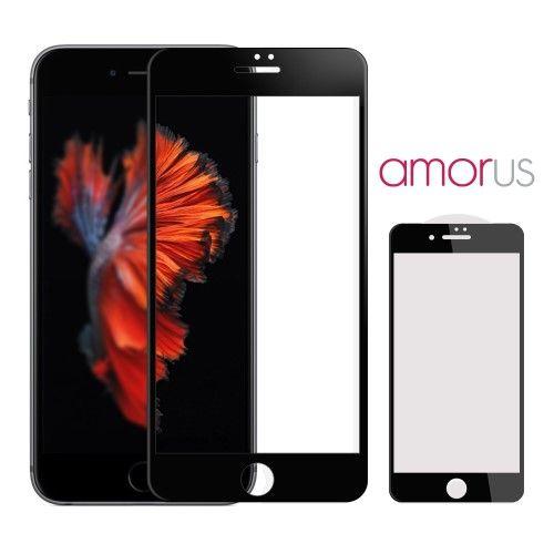 Accesorii Gsm Geam Protectie Display iPhone 7 AMORUS 3D Series Negru