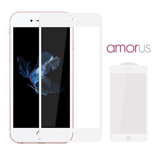 Accesorii Gsm Geam Protectie Display iPhone 7 Plus AMORUS 3D Series Alb