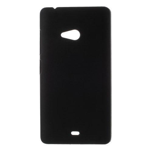 Accesorii Gsm Husa Dura Microsoft Lumia 540 Dual Sim Cauciucata Neagra