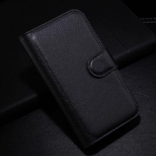 Accesorii Gsm Husa Flip Alcatel One Touch Pop C3 4033A 4033X 4033D 4033E Lychee Piele PU Neagra