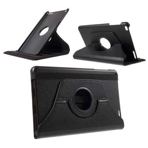 Accesorii Gsm Husa Flip Cu Stand Huawei MediaPad T1 10 Si Rotatie 360 De Grade Litchi Series Neagra