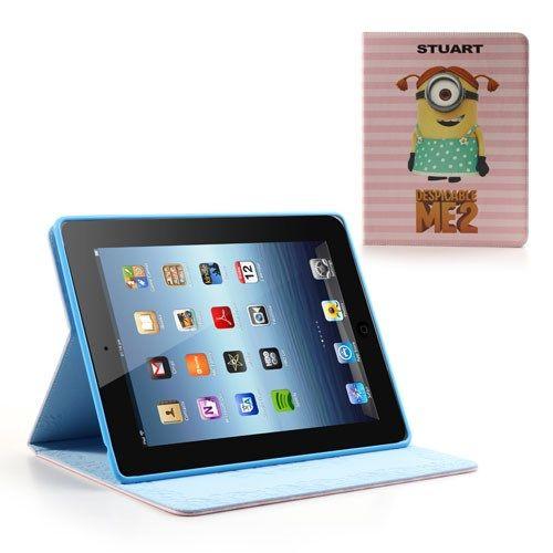 Accesorii Gsm Husa Flip Cu Stand  iPad 4 / 3 / 2 Minioni Despicable Me Stuart