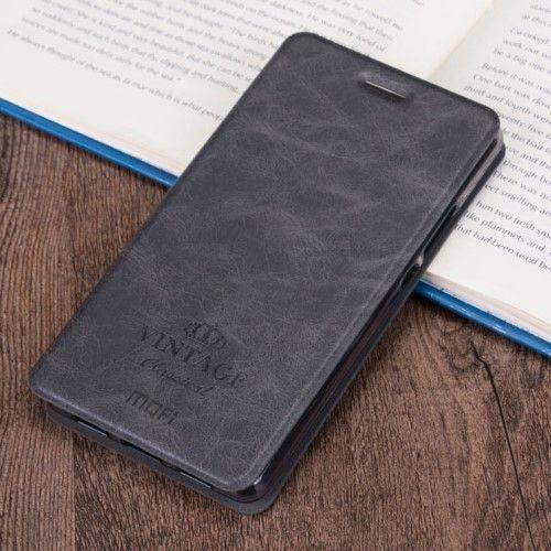 Accesorii Gsm Husa Flip Cu Stand Samsung Galaxy C5 MOFI Negru