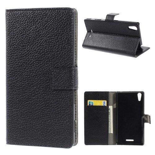 Accesorii Gsm Husa Flip Cu Stand Sony Xperia T3 D5102 D5103 D5106 Lychee Series Neagra