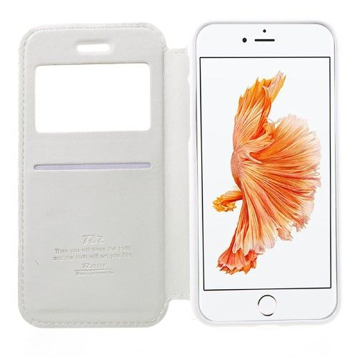 Accesorii Gsm Husa iPhone 7 Flip Cu Stand Si Fereastra ROAR KOREA Series Alba