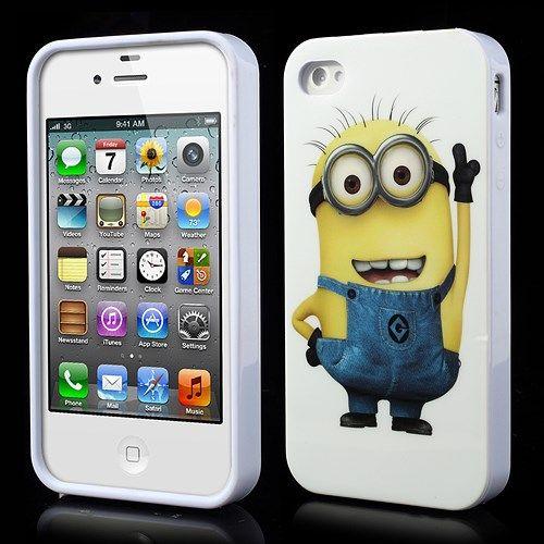 Accesorii Gsm Husa TPU iPhone 4 4s Despicable Me Minion