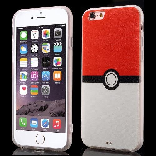 Accesorii Gsm Husa TPU iPhone 6 6s Pokemon Go Pokeball Series