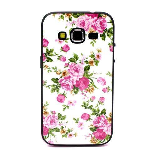 Accesorii Gsm Husa TPU Samsung Galaxy Core Prime SM-G360 Detasabila 2 in 1 Cu Flori