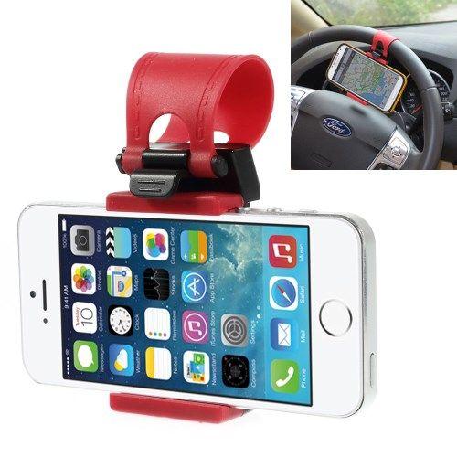 Accesorii Gsm Suport Auto Volan iPhone 5 5s 5c / Samsung I9190 S7582 / Universal Rosu