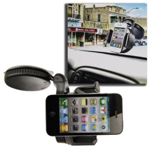 Accesorii Gsm Suport Telefon Auto Universal iPhone 5 4S / 4 / For iPod Touch Cu Rotatie 360 Grade, 50-70 mm Negru