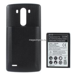 Acumulator De Putere LG G3 D850 D855 7200mAh Cu Capac Baterie Spate Negru