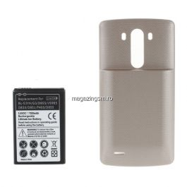 Acumulator De Putere LG G3 D850 D855 7200mAh Cu Capac Baterie Spate Champagne