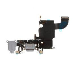 Banda Flex Conector Incarcare Si Jack Audio Apple iPhone 6s Gri Inchis