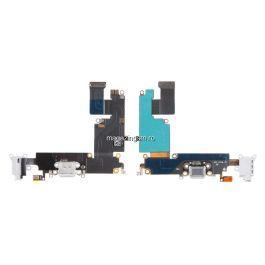 Banda Flex iPhone 6 Mufa Incarcare Cu Microfon Si Jack Audio Gri Originala
