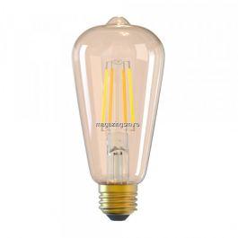 Bec filament E27 Tellur 6W WiFi fumuriu lumina alba calda reglabila
