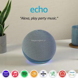 Boxa inteligenta Amazon Echo 4 Cu sunet premium, hub inteligent pentru casa si Alexa, Rosu