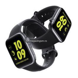 Bratara Tip Curea Ceas Apple Watch Series 5 / 4 / 3 / 2 / 1 38mm Silicon Neagra