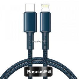 Cablu BASEUS Incarcare Si Sincronizare Date USB Type C - Lightning 1m Albastru
