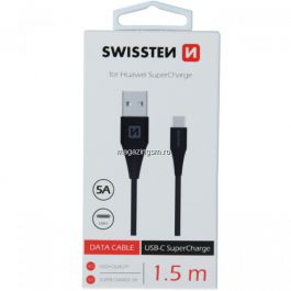 Cablu Date Si Incarcare 1,5 m USB Type C 5A Samsung Huawei LG Asus Allview Negru