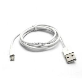 Cablu Incarcare Si Sincronizare Date iPhone 5 5s 5c 6 6 Plus 7 iPod Touch 8-Pin Lightning Alb