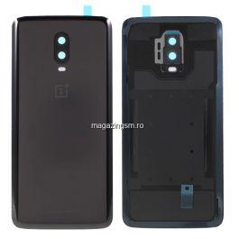 Capac Baterie OnePlus 6T Cu Ornament Camera Negru
