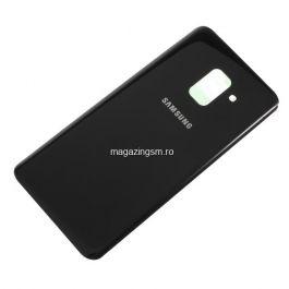 Capac Baterie Spate Cu Adeziv Sticker Samsung Galaxy A8 2018 A530 Negru