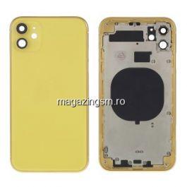 Carcasa completa spate iPhone 11 GALBEN