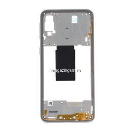 Carcasa Corp Mijloc Cu Butoare On / Off Samsung Galaxy A40 A405 Alba