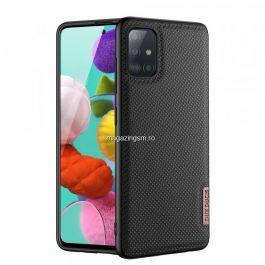 Husa telefon Dux Ducis Samsung Galaxy Note A51 TPU din piele ecologica Neagra