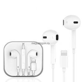 Casti iPhone / iPad Cu Mufa Lightning Si Microfon Albe