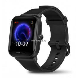 Ceas Smartwatch Amazfit Bip U , Ritm cardiac BioTracker, SpO2, Ip68 Full, Negru