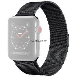 Curea Apple Watch Series 4 / 5 / 6 SE 44mm Series 1 / 2 / 3 42mm Magnetica Neagra