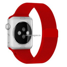 Curea Apple Watch Series 4 / 5 / 6 SE 44mm Series 1 / 2 / 3 42mm Magnetica Rosie