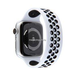 Curea Apple Watch Series 4 / 5 / 6 SE 44mm Series 1 / 2 / 3 42mm Silicon Alba