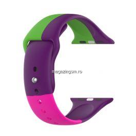 Curea Apple Watch Series 4 / 5 / 6 SE 44mm Series 1 / 2 / 3 42mm Silicon Multicolora
