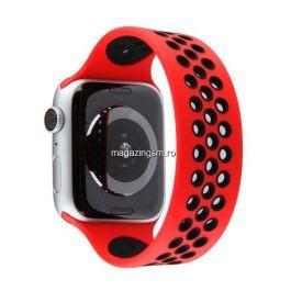 Curea Apple Watch Series 4 / 5 / 6 SE 44mm Series 1 / 2 / 3 42mm Silicon Rosie