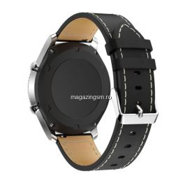 Curea Smartwatch Samsung Galaxy S3 Frontier Piele Ecologica Neagra
