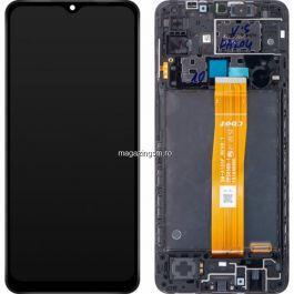 Display cu touchscreen Samsung Galaxy A12 A125F Original Cu Rama Negru