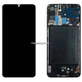 Display Original cu Touchscreen si Rama, Negru Samsung Galaxy A70 A705