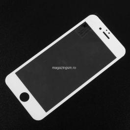 Folie De Protectie Tempered Glass Cu Acoperire Completa iPhone 6 / 6S Alba