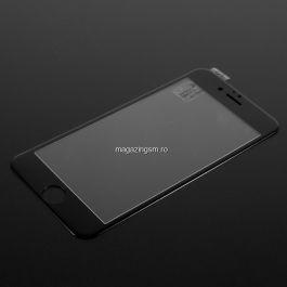 Folie De Protectie Tempered Glass Cu Acoperire Completa iPhone 6 / 6S Neagra
