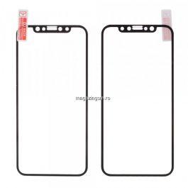 Folie De Protectie Tempered Glass Cu Acoperire Completa Pentru iPhone X / XS Neagra