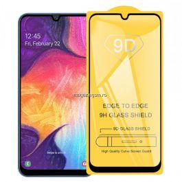 Folie De Protectie Tempered Glass Cu Acoperire Completa Pentru Samsung Galaxy A30 / A50 Neagra
