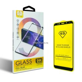 Folie protectie Sticla 6D, Full Glue OPPO A31, Negru