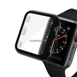 Folie Protectie Sticla Apple Watch Series 4 44mm Acoperire Completa Neagra