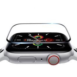 Folie Protectie Sticla Apple Watch Series 6 / SE / 5 / 4 44mm Acoperire Completa Transparenta