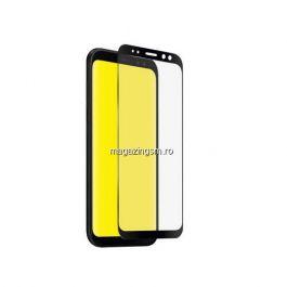 Folie Sticla Protectie Display Samsung Galaxy A8 A530 2018 Acoperire Completa Neagra 4D